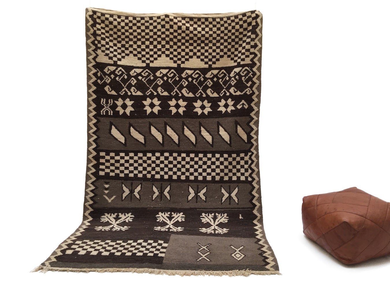 5x8 Bohemian Moroccan Berber Area Rug By Beniouraincarpets