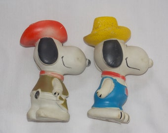 Vintage Snoopy Squeak Toys