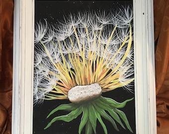 A Wish and A Prayer, Dandelion Painting, Abstract Dandelion