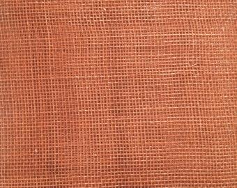 Sinamay Very Posh Terracotta 15cm x 45cm Free p+p