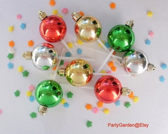 Christmas Ornament Cupcake Picks - 12 ct