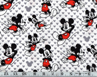 "58"" Disney Mickey Relaxed Knit Fabric BTY #951"