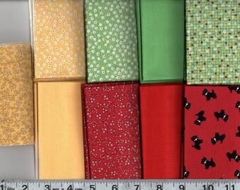 9-Piece Fat Quarter Bundle Treasures from the Attic 100% Cotton Gallery Fabrics 51-2