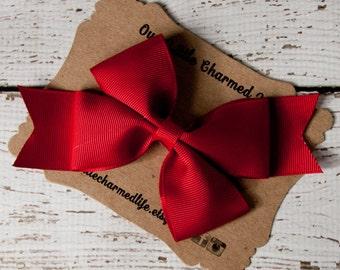Scarlet Hair Bow, Christmas Hairbow, Red Hair Bow, Red Hairbow, Red Hair Clip, Christmas Hair Clip, Toddler Hair Bow