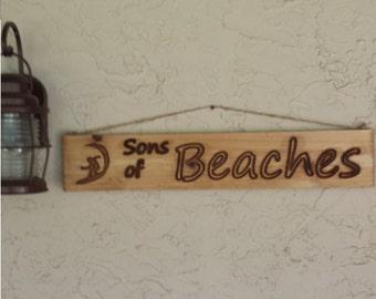 Beach House Sign beach art ocean decor wood sign drift wood rustic wall art ocean and beach living 5.5x30x.75