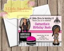 Diva Glamour Birthday Invitations U-Print