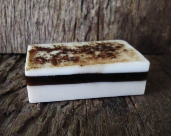 Fresh Brewed Coffee Layered Shea Butter and Glycerin Soap Bar 4 oz.