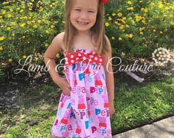Peppa Pig Hattie's Big Bow Sun Dress with Free Shipping