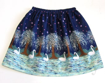 Girl's Swan Skirt. Border Skirts for Kids. Children Skirt in All Sizes: 3_8