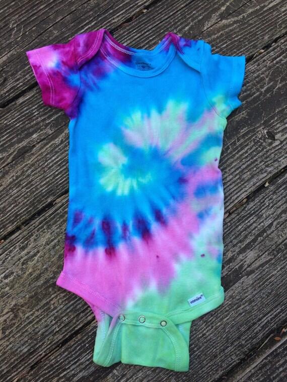 Baby Girls Tie Dye esie Girls Bodysuit Girls esie Kids