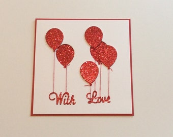 With Love Balloon Card