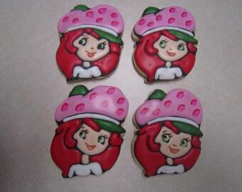 1 Dozen Strawberry Shortcake Had Decorated Cookies
