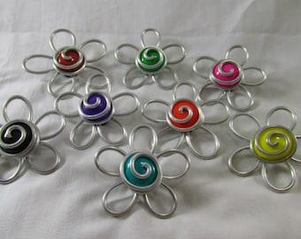 mini blossom magnet/ custom magnets/ custom flower magnets/ adorable locker magnets/ custom locker magnets/ custom fridge magnets/ blossom