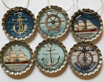 Nautical Wine Charms Nautical Party Theme