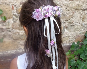 hair pin, flower girl hair pin, flower hair pin, communion hair accessories
