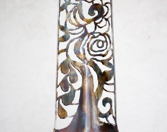 Plasma Cut Floral Design Shovel