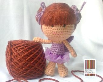 Amigurumi doll - Embroidered eyes Crochet doll - Crocheted doll - Amigurumi Fairy doll - Crochet Fairy doll - Amigurumi Crochet doll