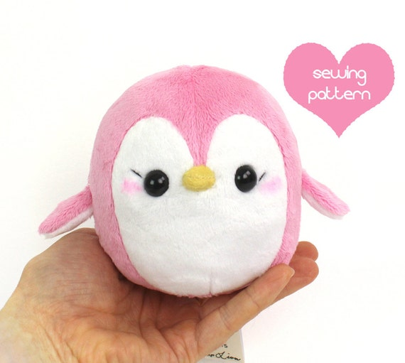 Pdf sewing pattern penguin stuffed animal easy kawaii for Sewing templates for stuffed animals
