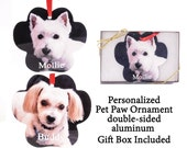 Custom Photo Ornament - Pet Paw Ornament - your photo turned into a unique gift - 2 sided