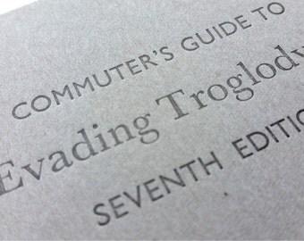 Troglodytes - Funny Letterpress Notebooks, Jotters, Mini Journals - A6 Lined / ruled Pocket Notebooks