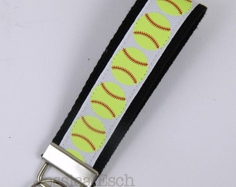 Softball Key FOBS- Key Chain - Softball, Softball Gift