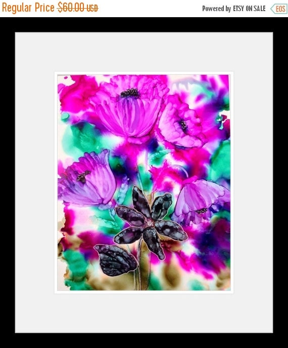 Holiday Sale Alcohol Ink Original Abstract Painting Dare