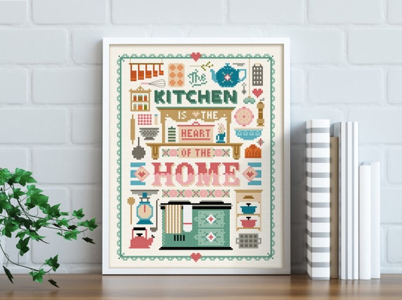 Heart of the Home - Cross Stitch Pattern (Digital Format - PDF)