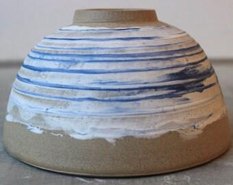 Pasta Bowl, blue and white bowl, Porcelain dish, Stoneware bowl, Salad bowl, pottery dinnerware, handmade dinnerware, ceramic bowl
