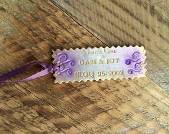 Custom Magnet Wedding Favors, Personalized Magnet, Polymer Clay Wedding Favors, Magnet Wedding Favors, Personalized Bookmark Wedding Favors