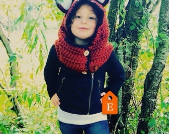 Kids Fox Hood Halloween/Winter Costume