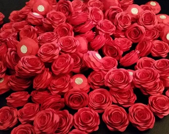 Paper Flowers - Tiny Red Roses