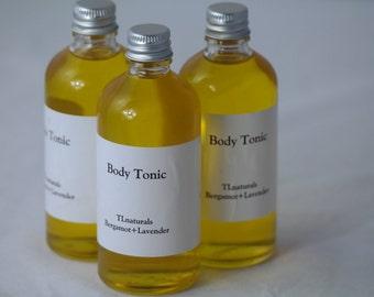 Body Tonic Oil. Bergamot And Lavender Body Oil.100ml Glass Bottle.