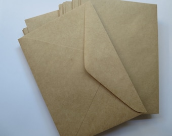 50 x Brown Recycled Envelopes C6