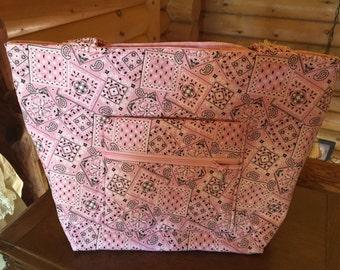 Pink Bandana Handbag