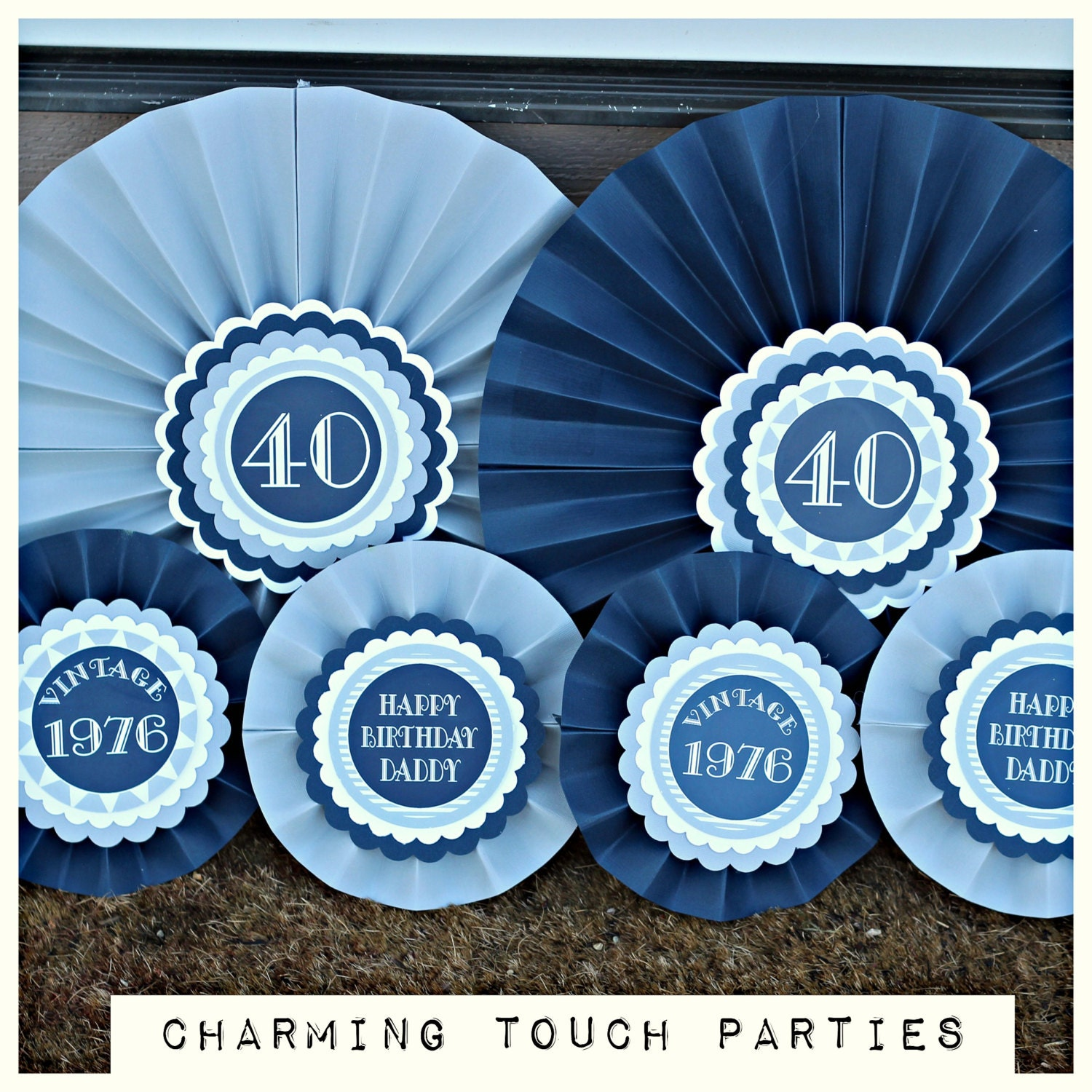 40th birthday party decorations decorative rosettes paper for 40th birthday decoration
