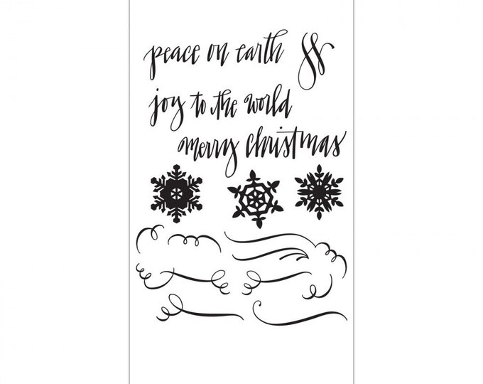 New! Sizzix Clear Stamps - Seasonal Calligraphy by Sharyn Sowell 661548