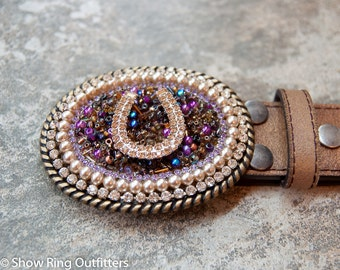 Horse Buckle, Quarter Horse Buckle, Cowgirl Bling Belt Buckle, Western Belt Buckle, Turquoise Buckle