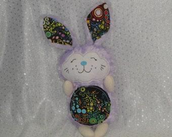 Bunny Rabbit Stuffed Toy/ Stocking Stuffer/ Stuffed Animal/ Plushie/ Bunny Softie/ Rabbit Softie/