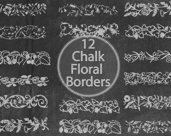 Chalk Floral Borders