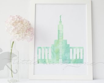 LDS Temple art - Los Angeles Temple - Customizable - Printable
