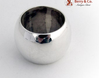 Vintage Wide Ring Band Sterling Silver