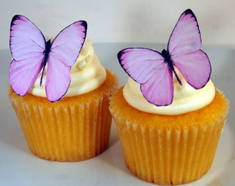 Edible Butterfly Cake Decorations, Light Pink Edible Butterflies, Set of 12 DIY Cake Decor, Edible Cake Decorations, DIY Wedding Cake