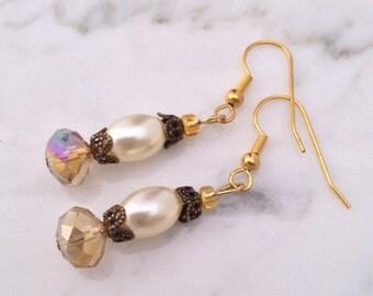 Romantic, antique style earrings.