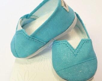 MADDIES - Shoes for 18 inch Dolls - Aqua Sparkle