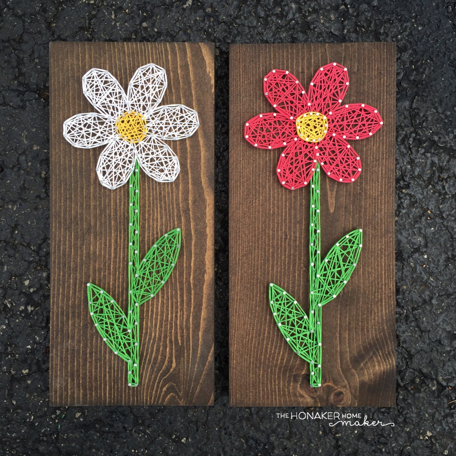 Made to order string art flower sign for What can you make out of string