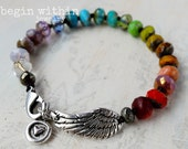 Rainbow Angel Wing Bracel...