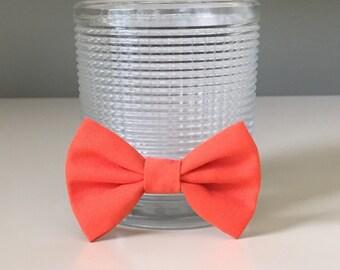 Tiny Dog Bow / Bow Tie - Orange