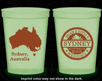 Australia Wedding, Personalized Glow in the Dark Cups, Destination Wedding, Glow in the Dark, Sydney Wedding (155)