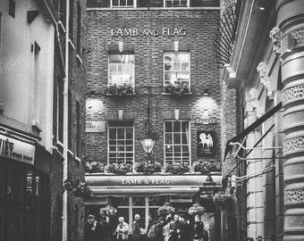 London Photography, London, England, UK, Lamb and Flag, pub, London wall art, London decor, London pub photo