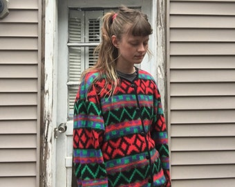 1980's Ultra Soft Aztec Buttonup